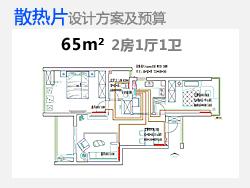 采暖散热片65平米户型方案设计及预算
